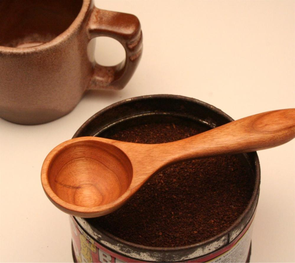 Wooden coffee scoop and measuring spoon 1 tablespoon