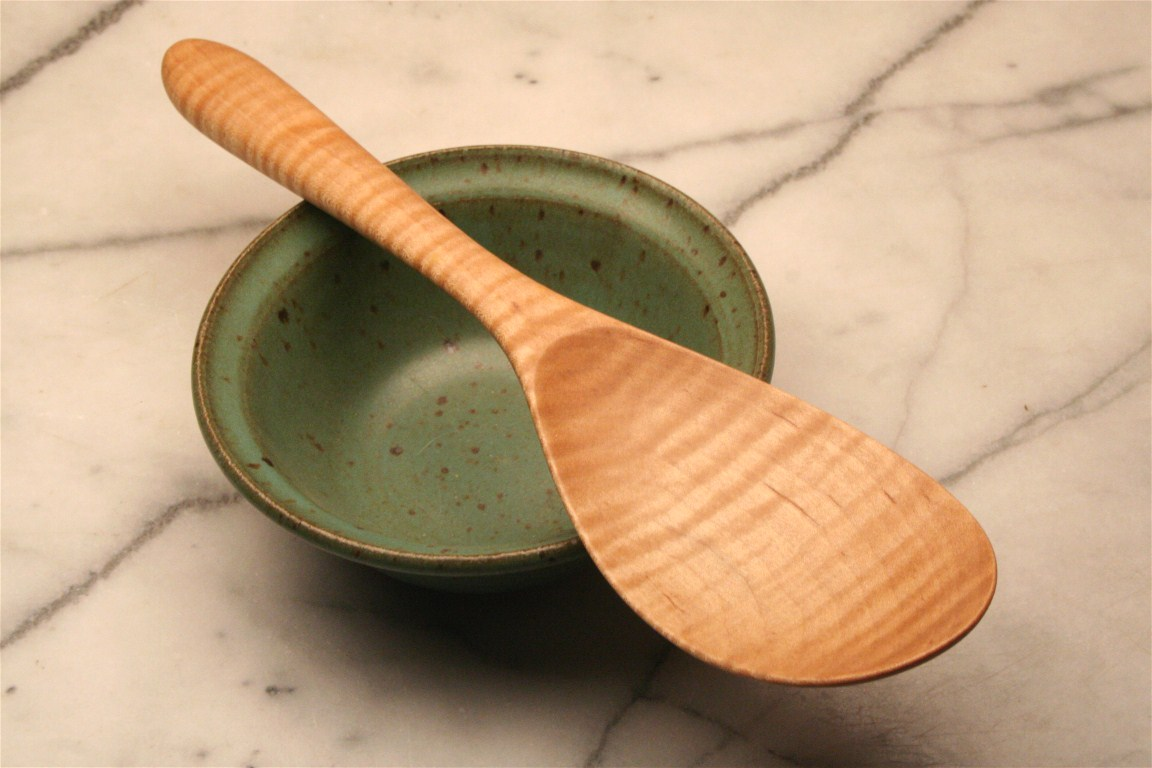 Hand Carved Wooden Spoon Rice Spoon For Serving Sticky